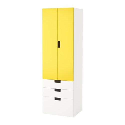 Stuva mueble de sal n con almacenaje blanco amarillo ikea for Mueble salon blanco ikea