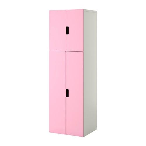 Stuva mueble de sal n con almacenaje blanco rosa ikea for Mueble salon blanco ikea