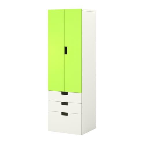 Stuva mueble de sal n con almacenaje blanco verde ikea for Mueble ikea salon