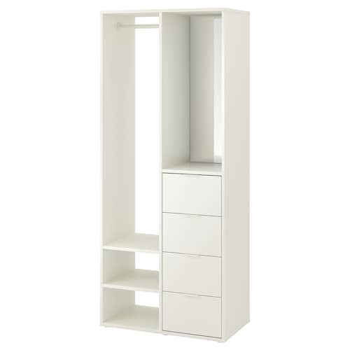 SUNDLANDET armario abierto blanco 79 cm 44 cm 187 cm 34 cm 34 cm