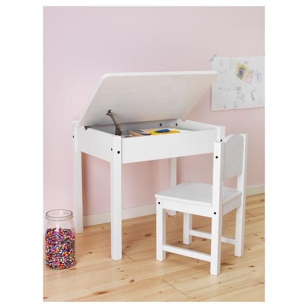SUNDVIK Escritorio p/niño, blanco, 60x45 cm