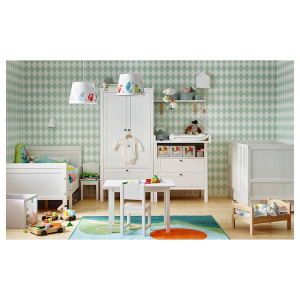 SUNDVIK Estruc cama extens+somier láminas, blanco, 80x200 cm