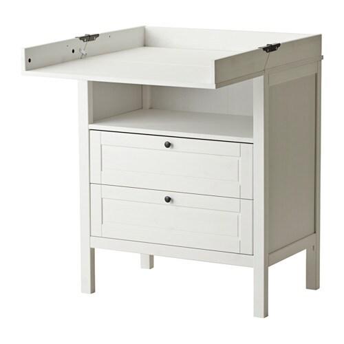 Sundvik mesa de beb c moda blanco ikea - Ikea comodas bebe ...