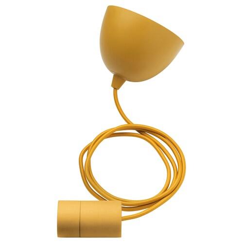 SUNNEBY montura para lámpara de techo amarillo oscuro textil 22 W 1.8 m 1.80 kg