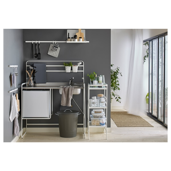 SUNNERSTA Recipiente, blanco, 12x11 cm