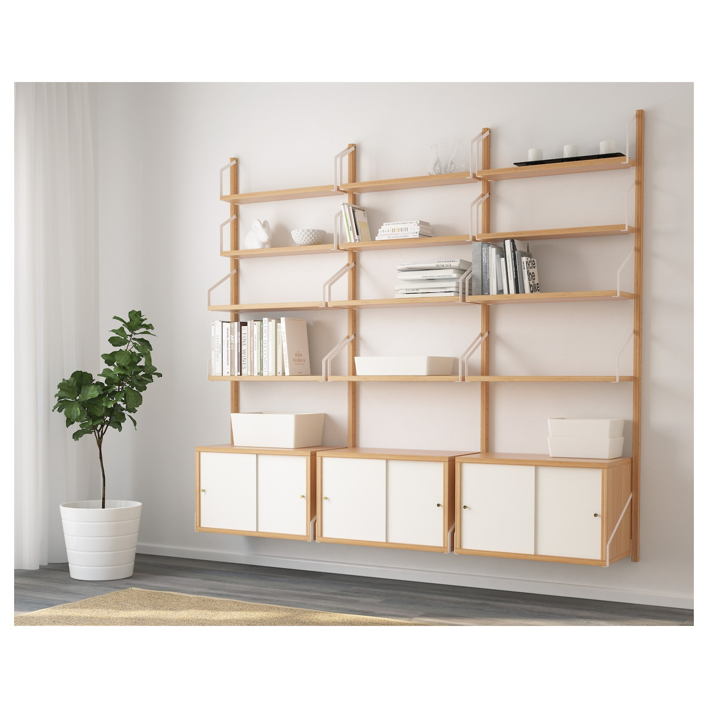Svaln s estanter as modulares bamb blanco 193 x 35 x 176 - Ikea muebles modulares ...