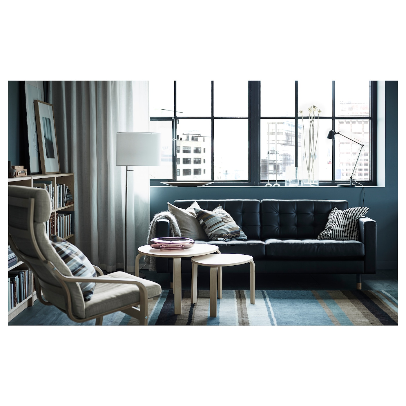 SVALSTA Mesa nido, j2, tinte blanco IKEA