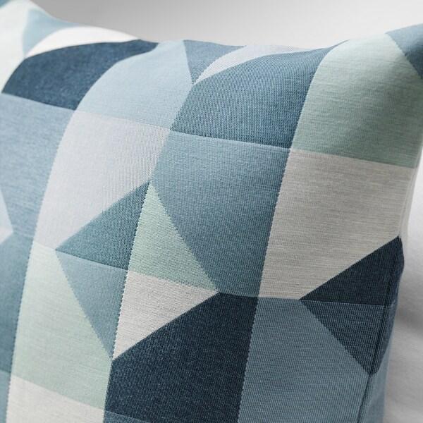SVARTHÖ Funda de cojín, verde/azul, 50x50 cm