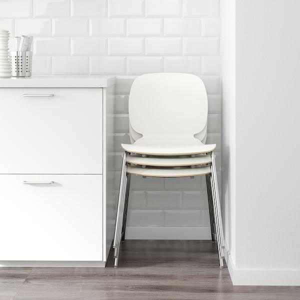 SVENBERTIL Silla, blanco/Broringe cromado