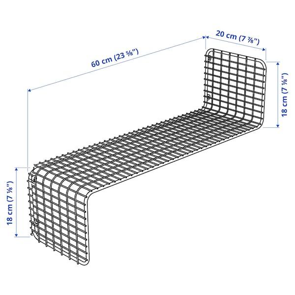 SVENSHULT Estante, blanco, 60x20 cm