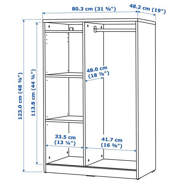 SYVDE Armario abierto, blanco, 80x123 cm
