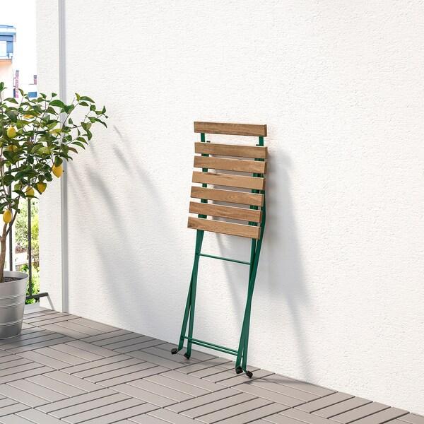 TÄRNÖ Silla jardín plegable/verde oscuro tinte marrón claro 110 kg 39 cm 40 cm 79 cm 39 cm 28 cm 45 cm