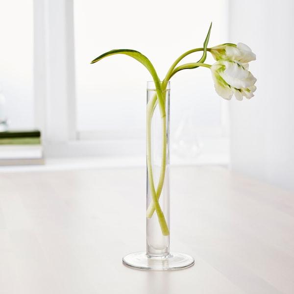 TAJT Florero / jarrón, vidrio incoloro, 23 cm