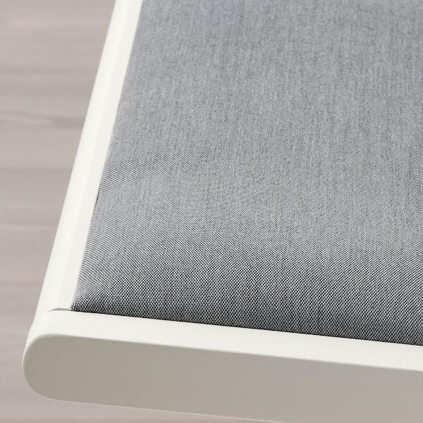 TERJE Silla plegable, blanco/Knisa gris claro