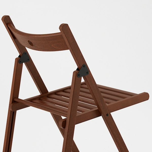 TERJE Silla plegable, marrón