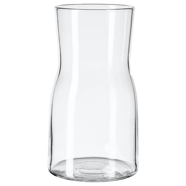 TIDVATTEN Florero / jarrón, vidrio incoloro, 17 cm