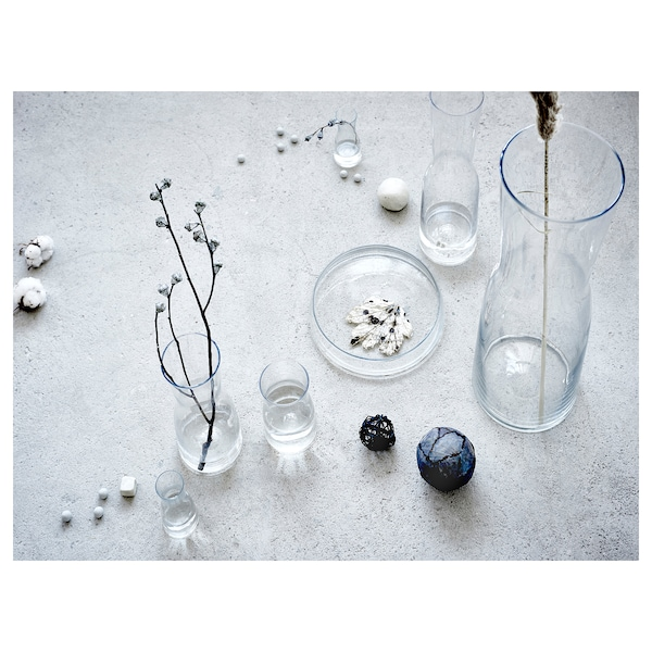 TIDVATTEN Florero / jarrón, vidrio incoloro, 14 cm