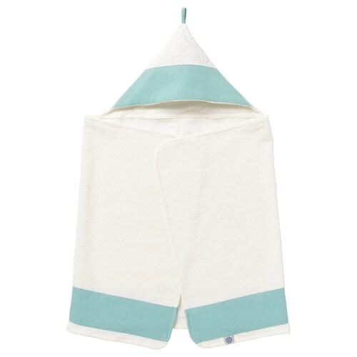 TILLGIVEN toalla para niño con capucha blanco/turquesa 125 cm 60 cm