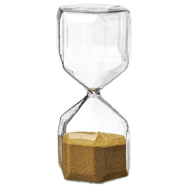 TILLSYN Reloj de arena decorativo, vidrio incoloro, 16 cm