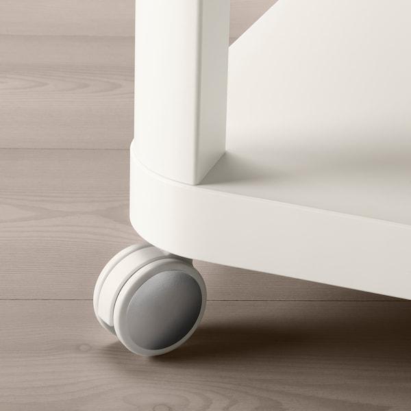 ikea mesa auxiliar blanca cuadrada con ruidas