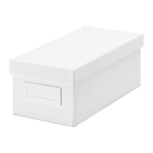 TJENA  - caixa i tapa, 13x26x10, blanc