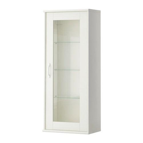 TOCKARP Armario de pared con vitrina - blanco - IKEA