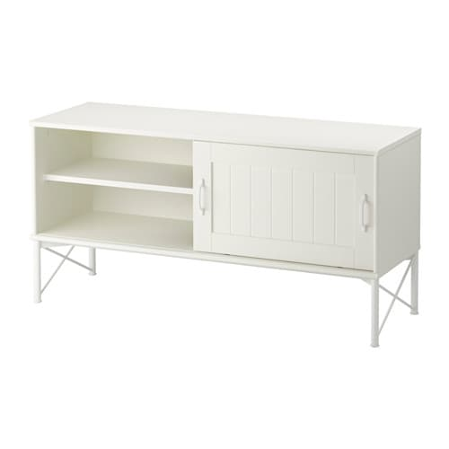 Tockarp mueble tv blanco 114x38 cm ikea for Envejecer mueble blanco ikea