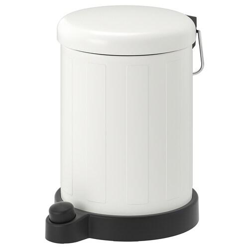 TOFTAN cubo de basura blanco 27 cm 19 cm 4 l