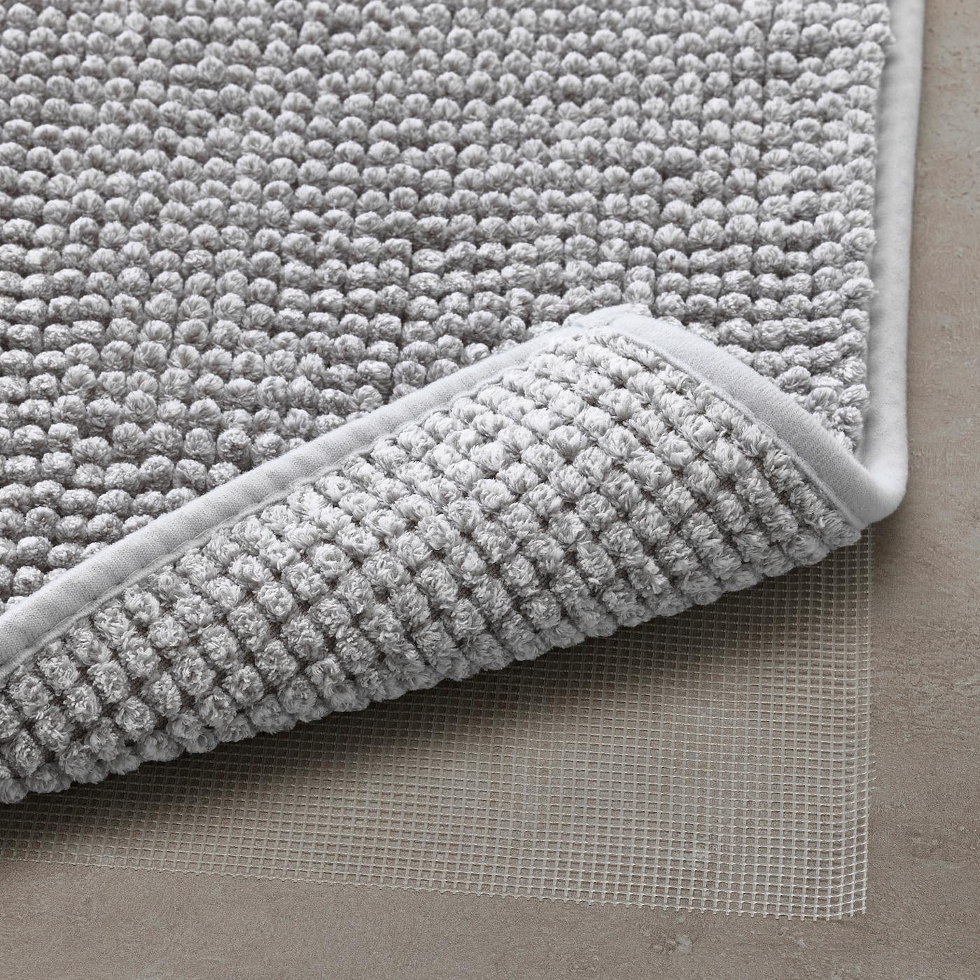 TOFTBO Alfombrilla de baño - blanco grisáceo mezcla 50x80 cm