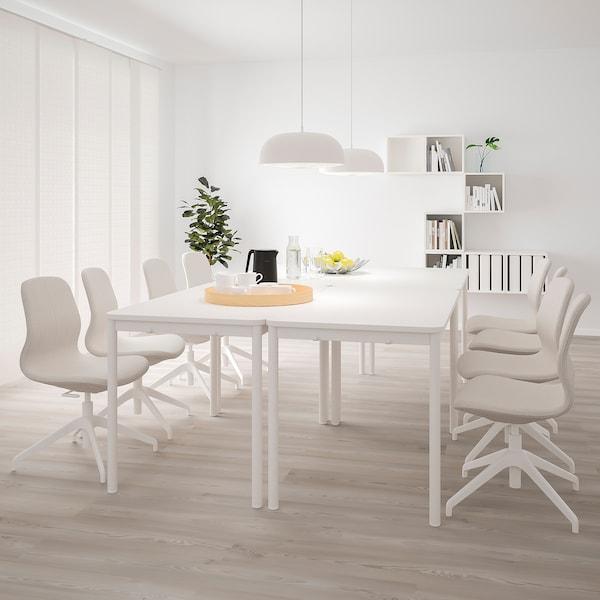 TOMMARYD Mesa, blanco, 130x70 cm