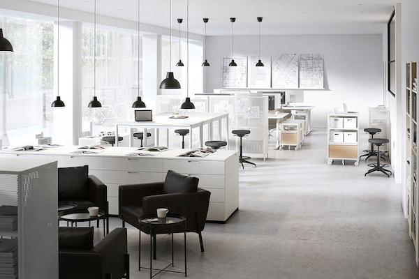 TOMMARYD Mesa, blanco, 130x70x105 cm