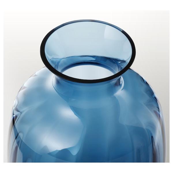 TONSÄTTA Florero / jarrón, azul, 21 cm
