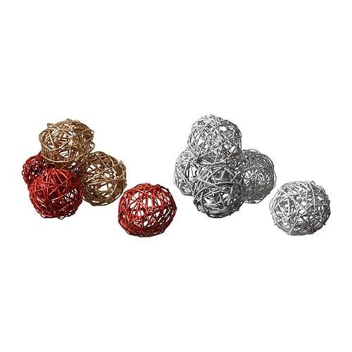 TORKA Adorno, balón colores variados diámetro: 10 cm Unidades: 5 unidades