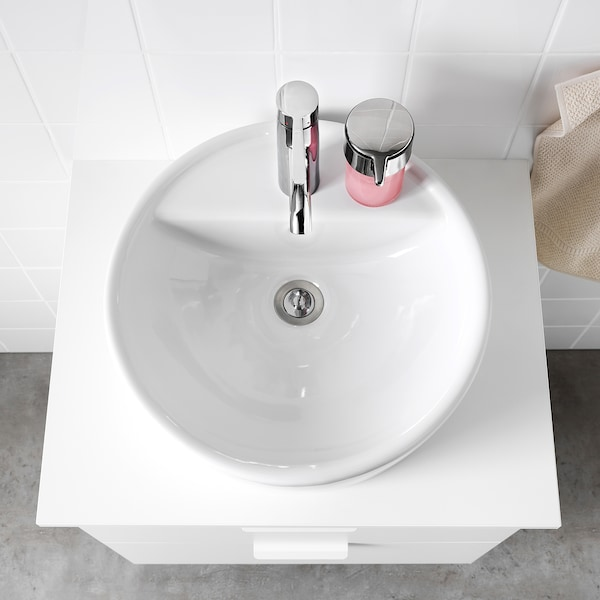 TÖRNVIKEN Lavabo encimera, blanco, 45 cm