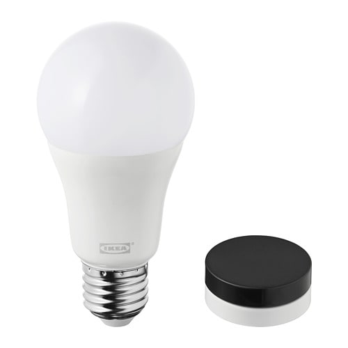 Trådfri Kit Regulador Intensidad Blanco Cálido Negro Ikea