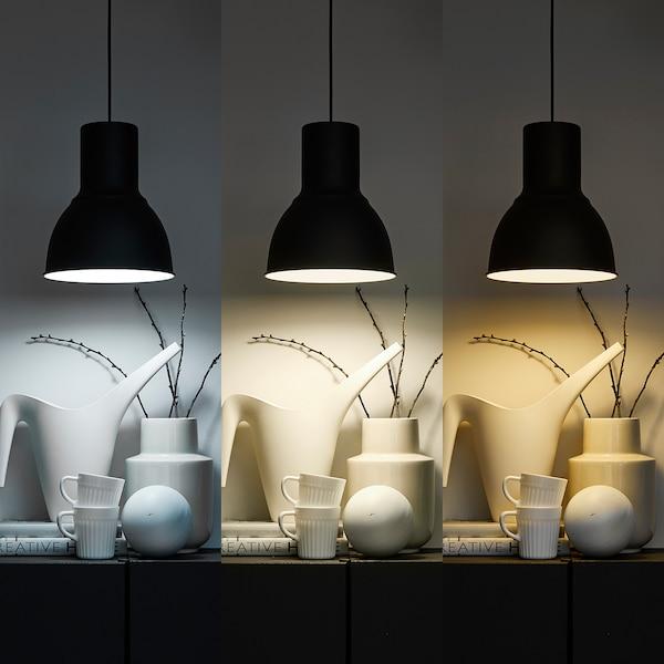 TRÅDFRI Bombilla LED E27 1.000 lúmenes, regulac lumin inalámbr espectro blanco/globo blanco ópalo