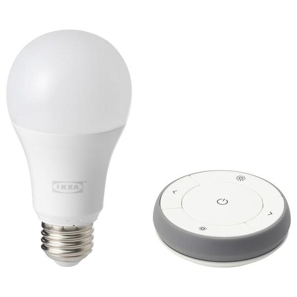 TRÅDFRI Kit mando a distancia, espectro blanco, E27 IKEA