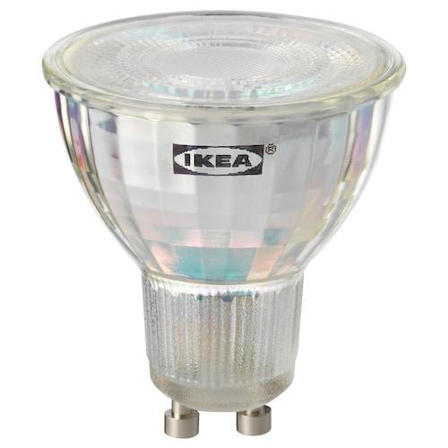 TRÅDFRI bombilla LED GU10 400 lúmenes regulac lumin inalámbr espectro blanco 400 lm 2700 K 58 cm 5 W 50 cm