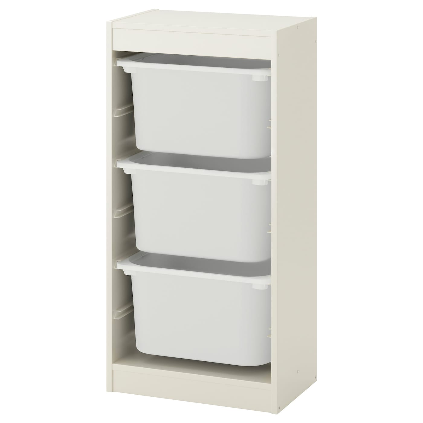 Combinación de almacenaje con cajas, blanco/blanco
