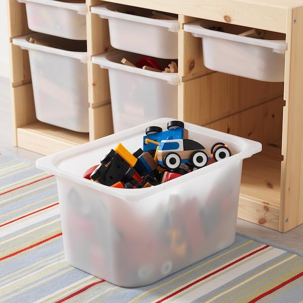 TROFAST Combinación de almacenaje con cajas, pino tte claro/blanco, 94x44x52 cm