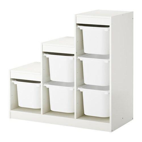 Trofast combinaci n de almacenaje con cajas blanco ikea - Cajas de almacenaje ikea ...