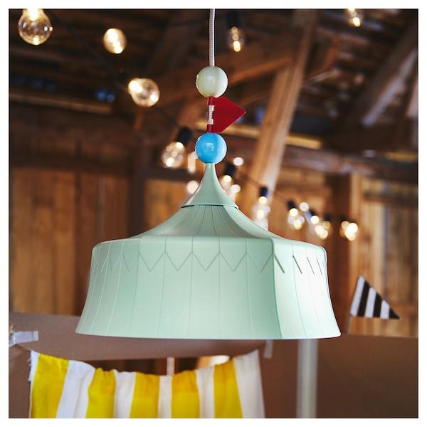 TROLLBO Lámpara de techo, verde claro IKEA