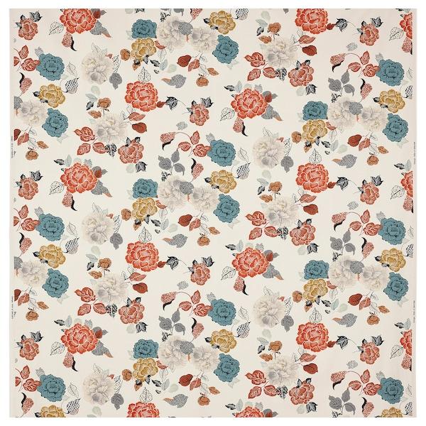 TROLLMAL Tela por metros, natural/motivo de flores, 150 cm