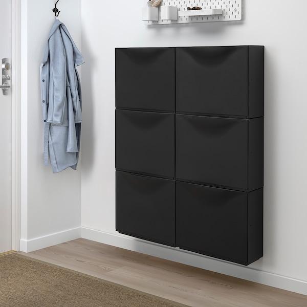 TRONES Zapatero/almacenaje, negro, 52x18x39 cm