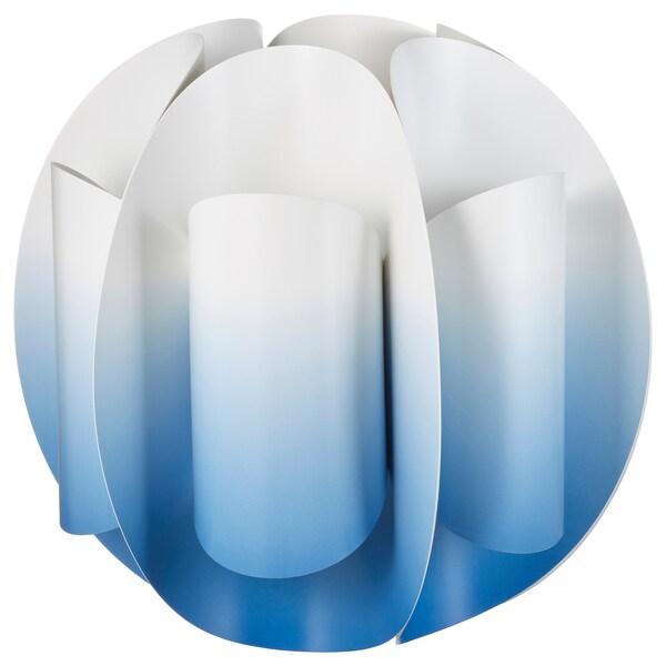 TRUBBNATE Pantalla para lámpara de techo, blanco/azul, 38 cm
