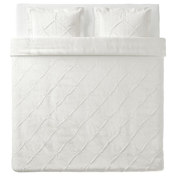 TRUBBTÅG Funda nórdica +2 fundas almohada, blanco, 240x220/50x60 cm