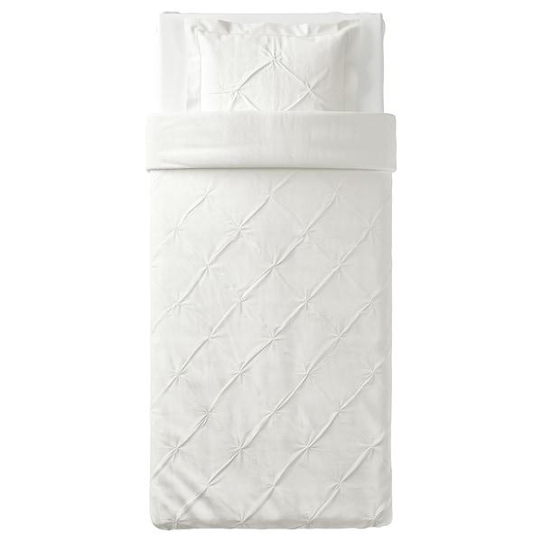 TRUBBTÅG Funda nórdica +funda almohada, blanco, 150x200/50x60 cm