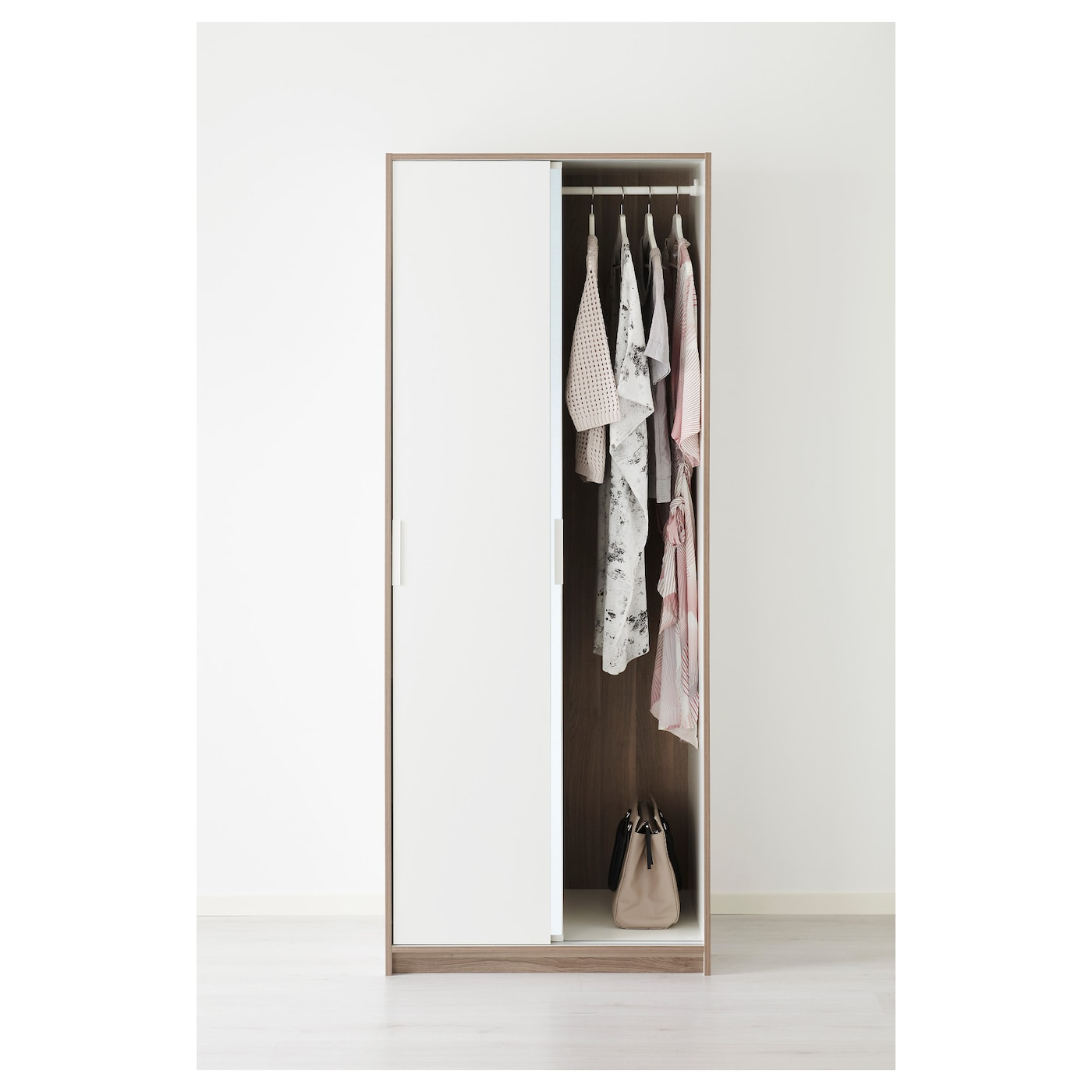 Trysil armario blanco espejo 79 x 61 x 202 cm ikea - Espejo blanco ikea ...
