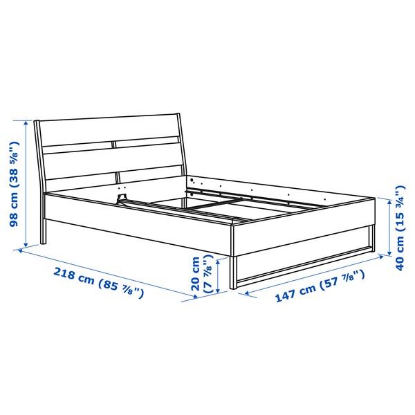 TRYSIL Estructura cama, blanco/gris claro, 140x200 cm