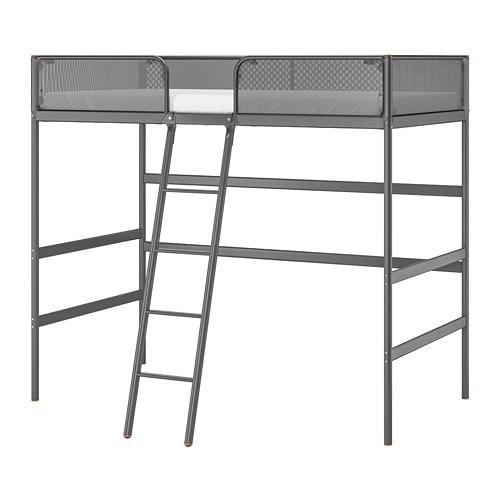 Tuffing Estructura Cama Alta Gris Oscuro 90 X 200 Cm Ikea - Cama-loft